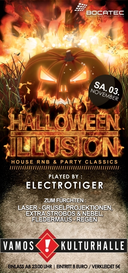 Halloween Illusion – die Gruselparty im Vamos