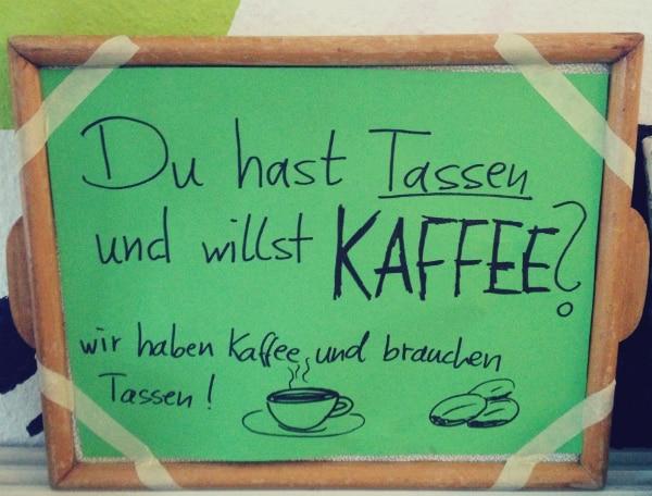 Tausch-Aktion im PlanB – Kaffee für Tasse