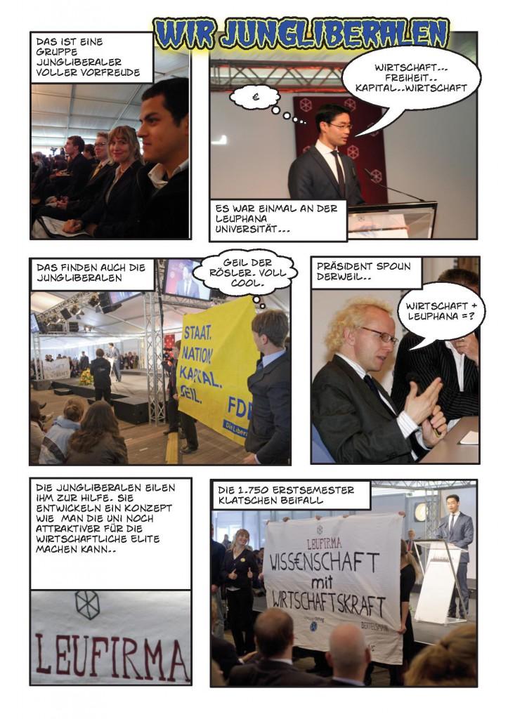 Comic zum Startwochenprotest: Poster für Rösler