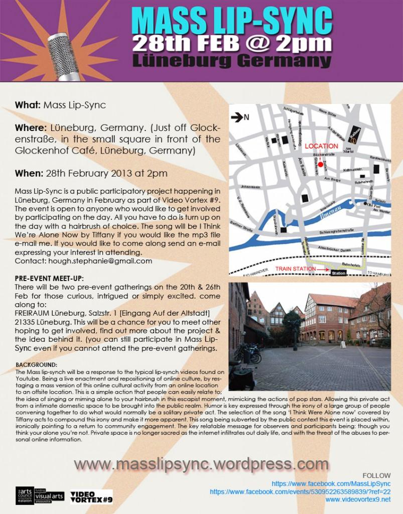 Aufruf: Lip-Sync-Flashmob in der Lüneburger Altstadt