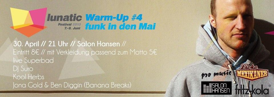 Funk in den Mai – Lunatic Warm-Up #4 holt euch aus dem Winterschlaf