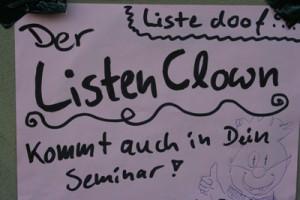 Kommt der Listen-Clown auch bald zu uns? Der Name wurde während des Bildungsstreik 2009 an der TU Berlin entwickelt. (CC ) Foto: Björn Kietzmann / flickr
