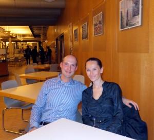 Christian Seigis und Angelika Kowal beim Interview mit Univativ Online/ Foto (c) Ann Christin Busch