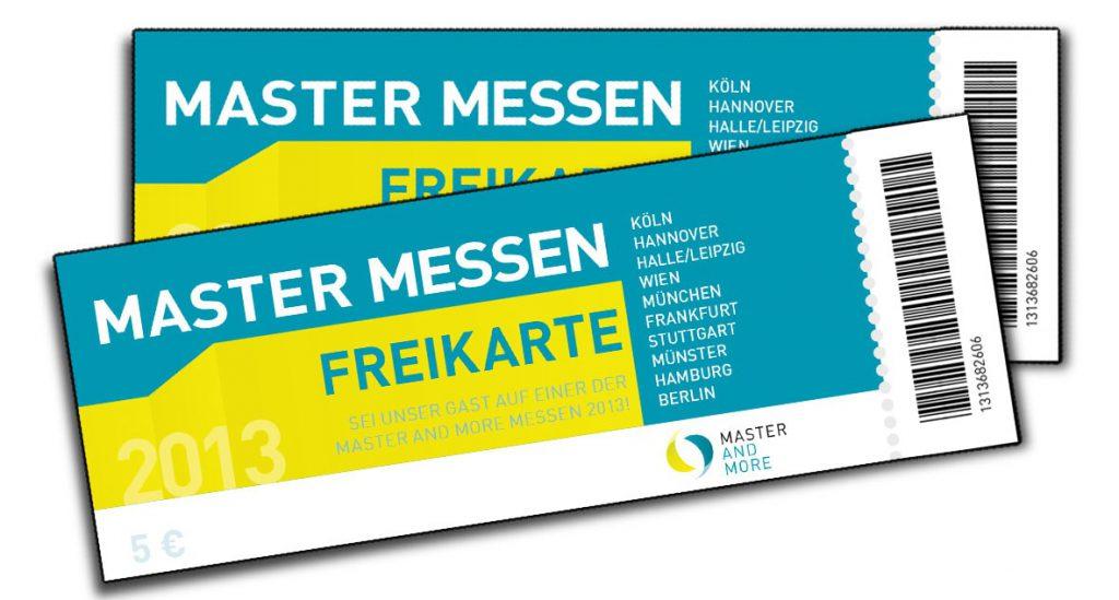 Vier Freikarten zur Master Messe in Hamburg zu gewinnen!