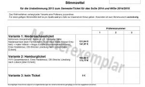 Musterstimmzettel für das Semesterticket. / (c) Screenshot: Eva Fischer