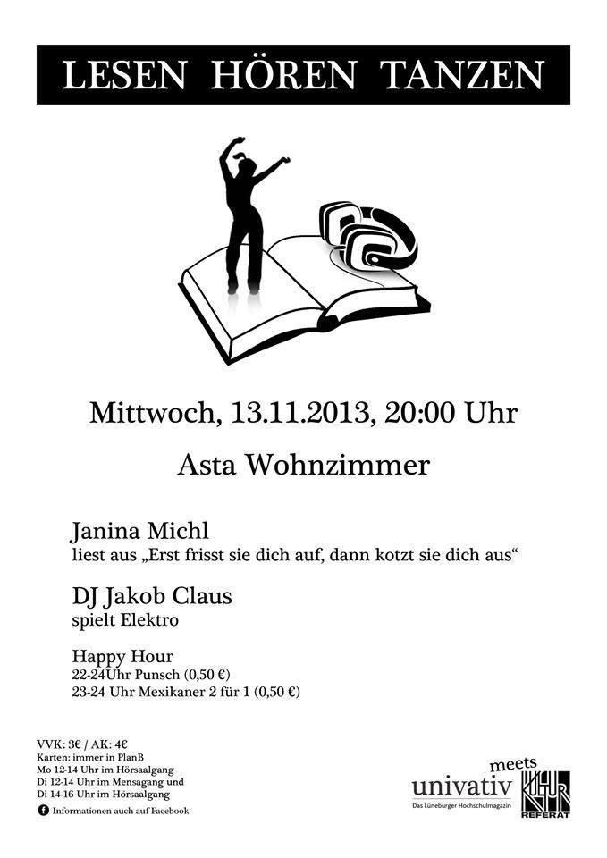 Lesen, Hören, Tanzen – Univativ Release Party am 13.11. mit Janina Michl