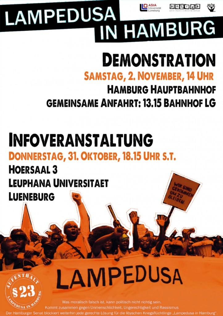 Lampedusa in Hamburg – ein Aufruf von Antirassismus- und Politikreferat