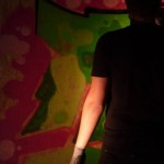 Nahaufnahme des fast fertigen Graffiti / (c) Foto: Pia Köber