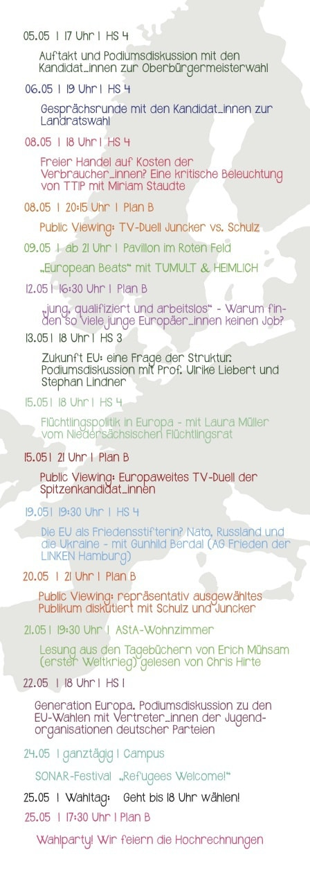 Flyer der Veranstaltungsreihe - Rückseite/ (CC) Foto : AStA Leuphana Universität Lüneburg