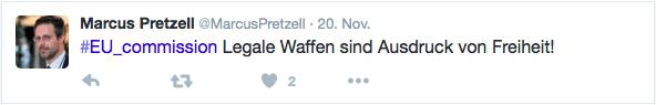 Pretzell auf Twitter / Screenshot vom 21.11.15
