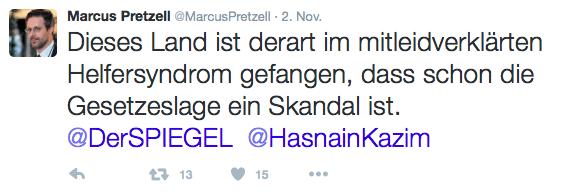 Screenshot 21.11.2015 – Pretzell auf Twitter