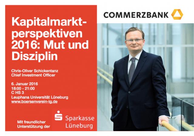 Der HBUL lädt zum Vortrag mit dem CIO der Commerzbank ein. / (c) HBUL