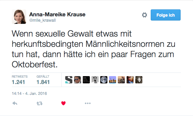 Screenshot Twitter: 5. Januar 2016