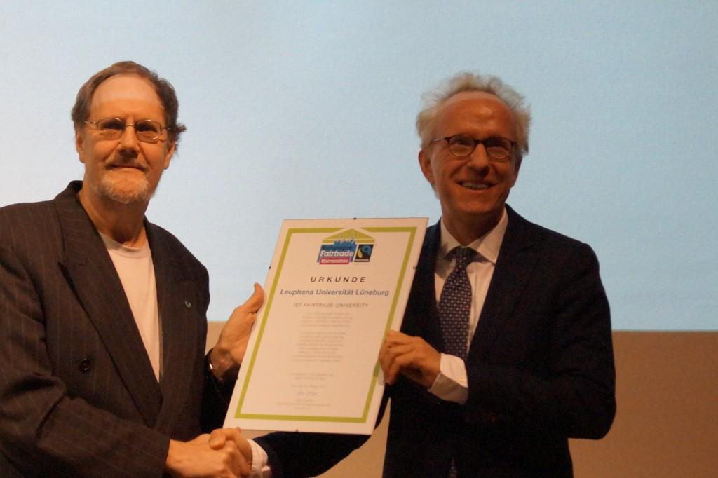 Leuphana als Fairtrade-Universität ausgezeichnet