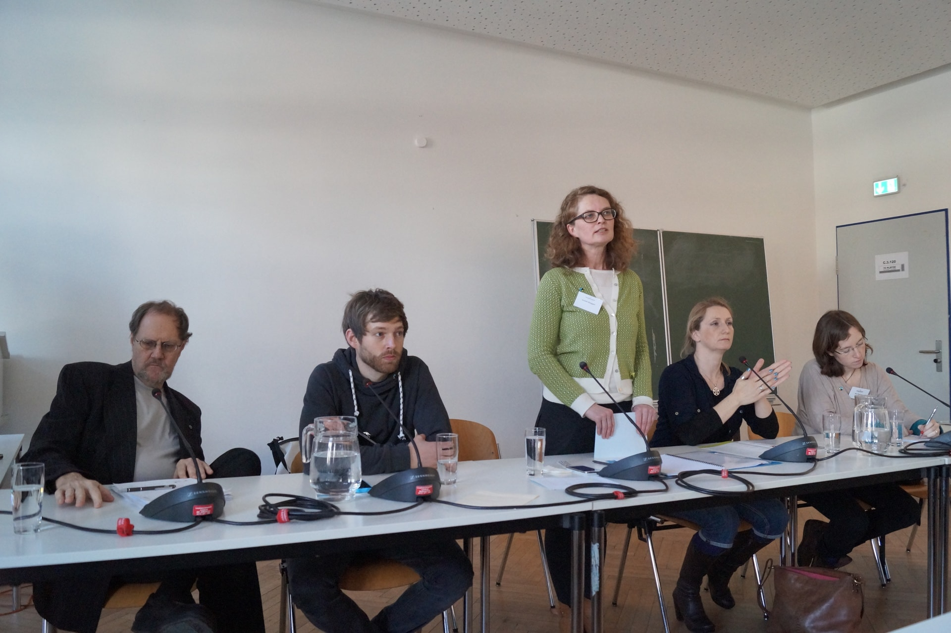 Podiumsdiskussion über Fairtrade Universität / (C) Christopher Bohlens