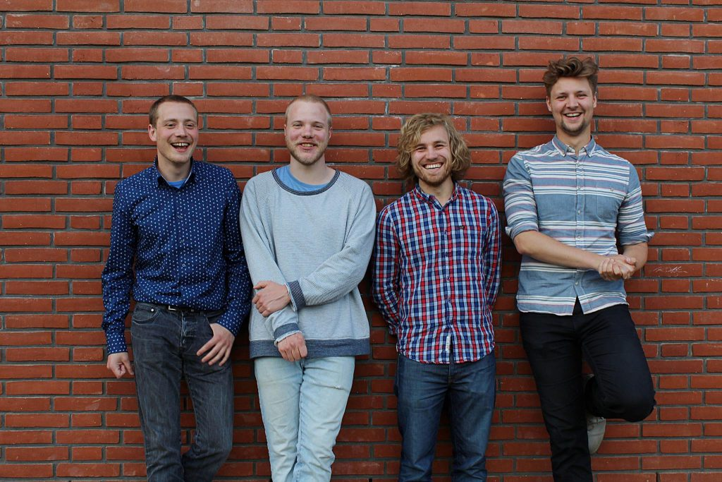 Das Team hinter Sparcity: v.l. Benjamin Bretthauer, Max Irmer, Franz Vergöhl und Keno Canzler / (c) Spacity