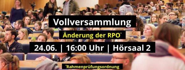 Studentische Vollversammlung zur RPO Änderung