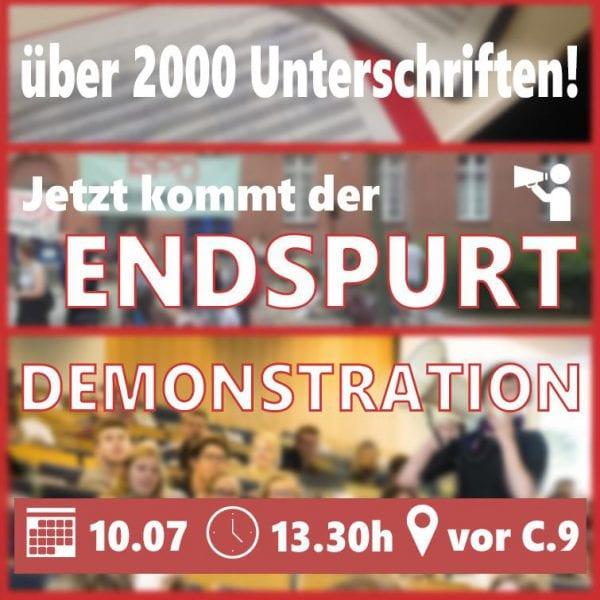 Demo zur Änderung der Rahmenprüfungsordnung (RPO)