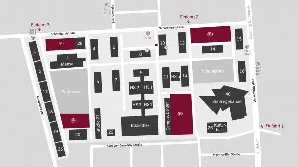 Leuphana Campus wird zum verkehrsberuhigten Bereich – Autos müssen draußen bleiben