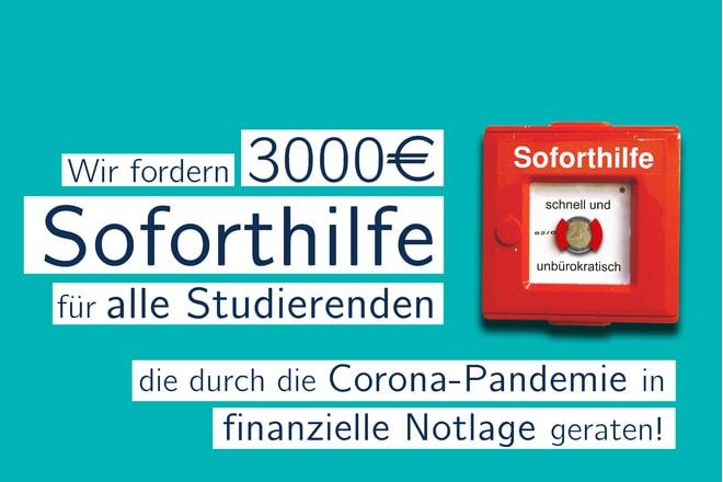 Petition gestartet – Soforthilfe für Studierende – 3.000 Euro für finanzielle Notlagen
