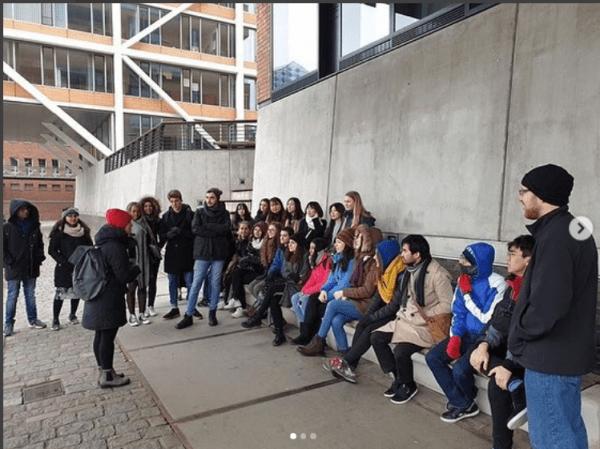 Screenshot Die ISI beim Stadtrundgang in Hamburg - Instagram: @isilueneburg - (c) ISI Lüneburg e.V.