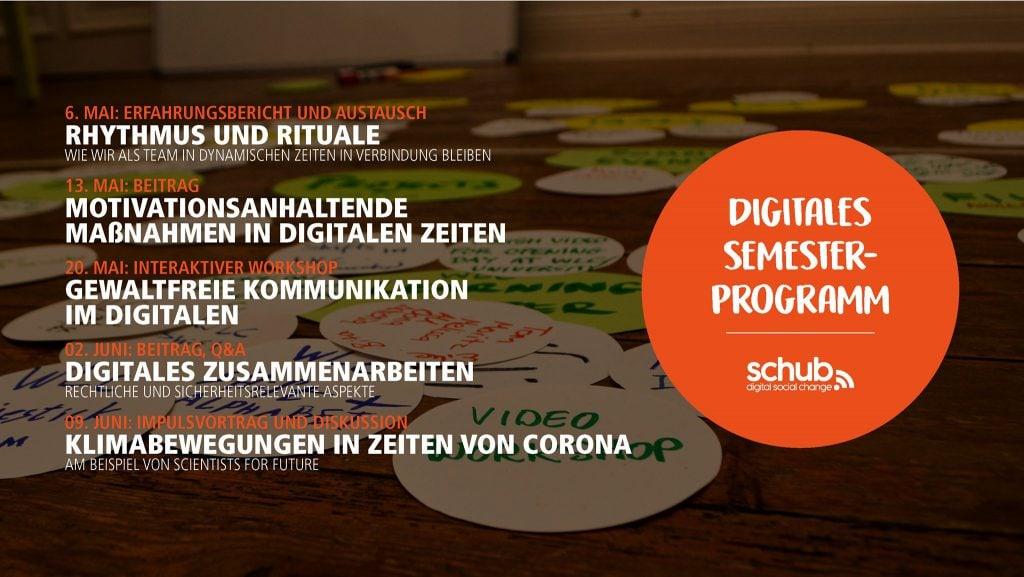 Digital Social Change – Digitale Veranstaltungsreihe vom SCHub