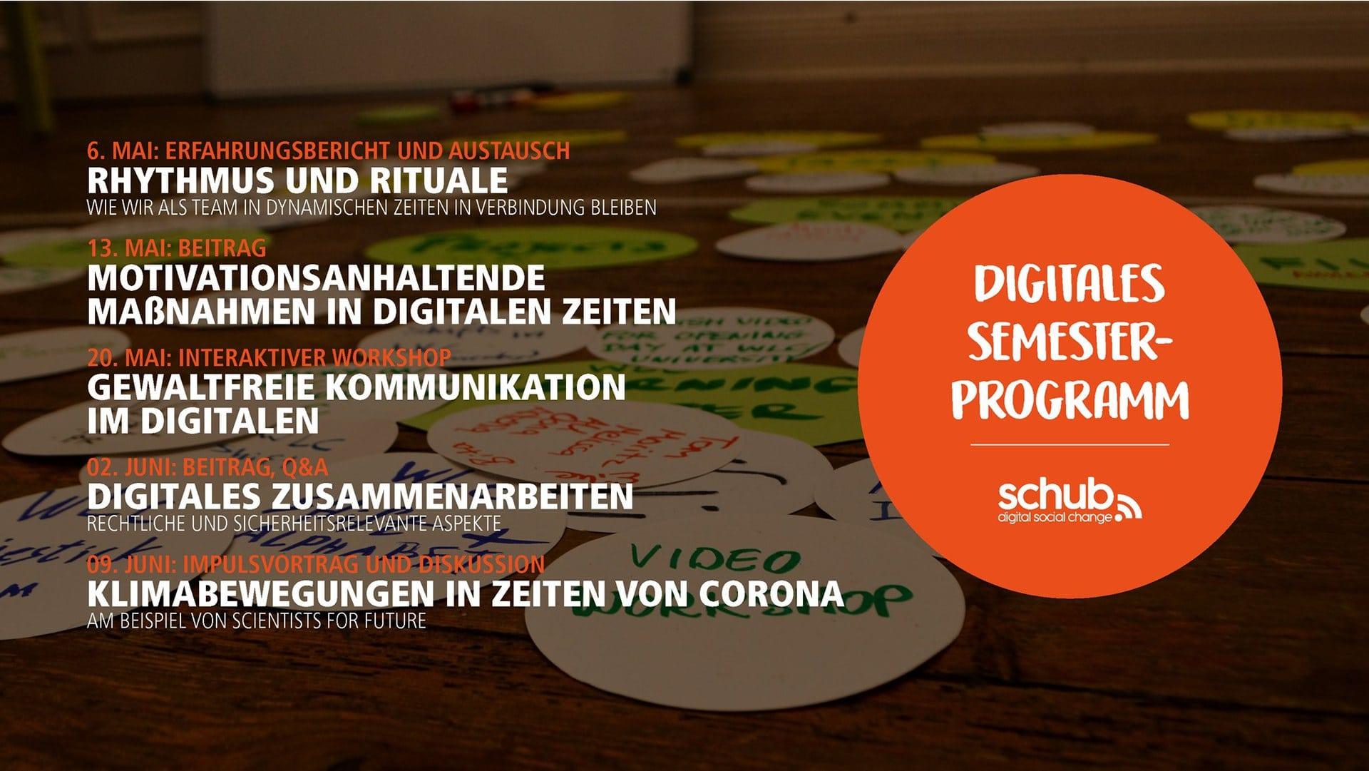 Veranstaltungsübersicht SoSe 2020 - (c) SCHub Leuphana