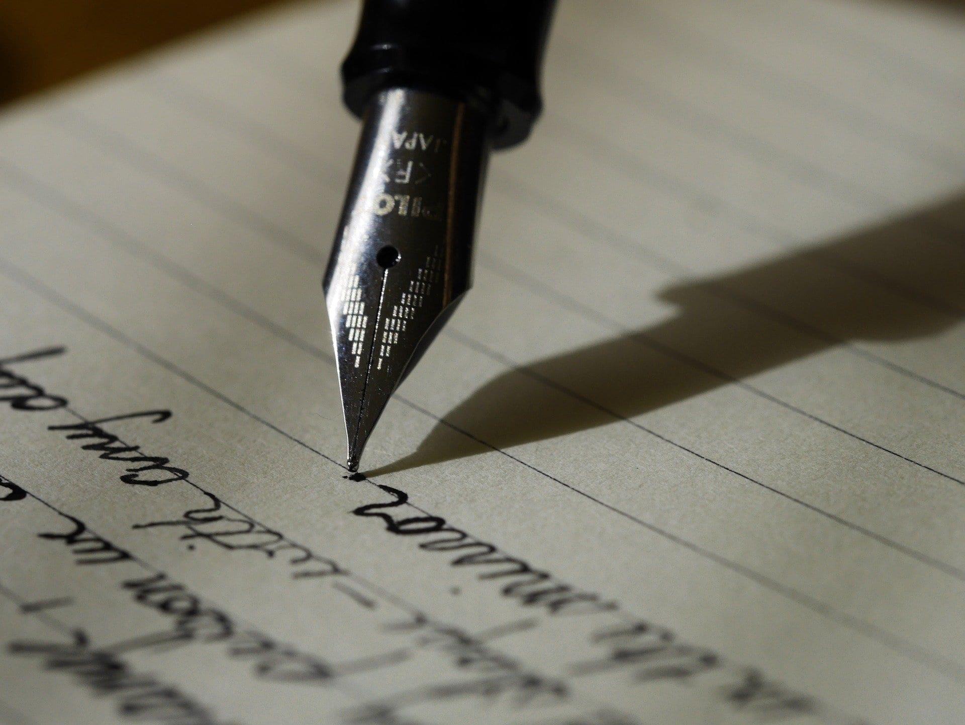 Schreiben Füllfederhalter Tinte - (c) Pixabay