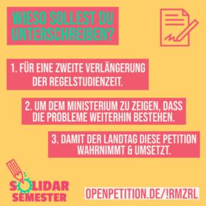 Petition - Verlängerung Solidarsemester - (c) LAK Niedersachsen
