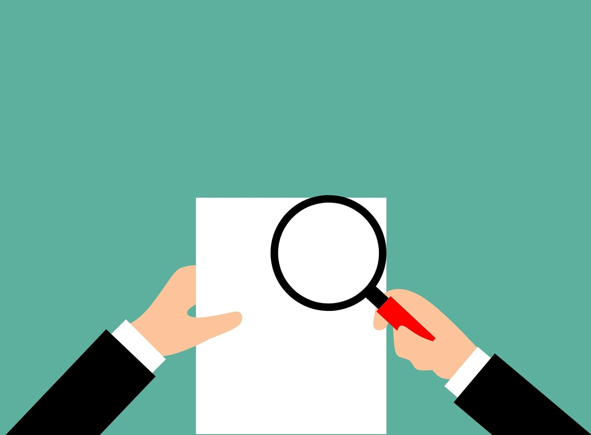 Audit Bericht Überprüfung Lupe Rechnungsprüfer - (c) Pixabay