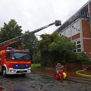 Erneut Feuer im ehemaligen Uni-Gebäude im Roten Feld